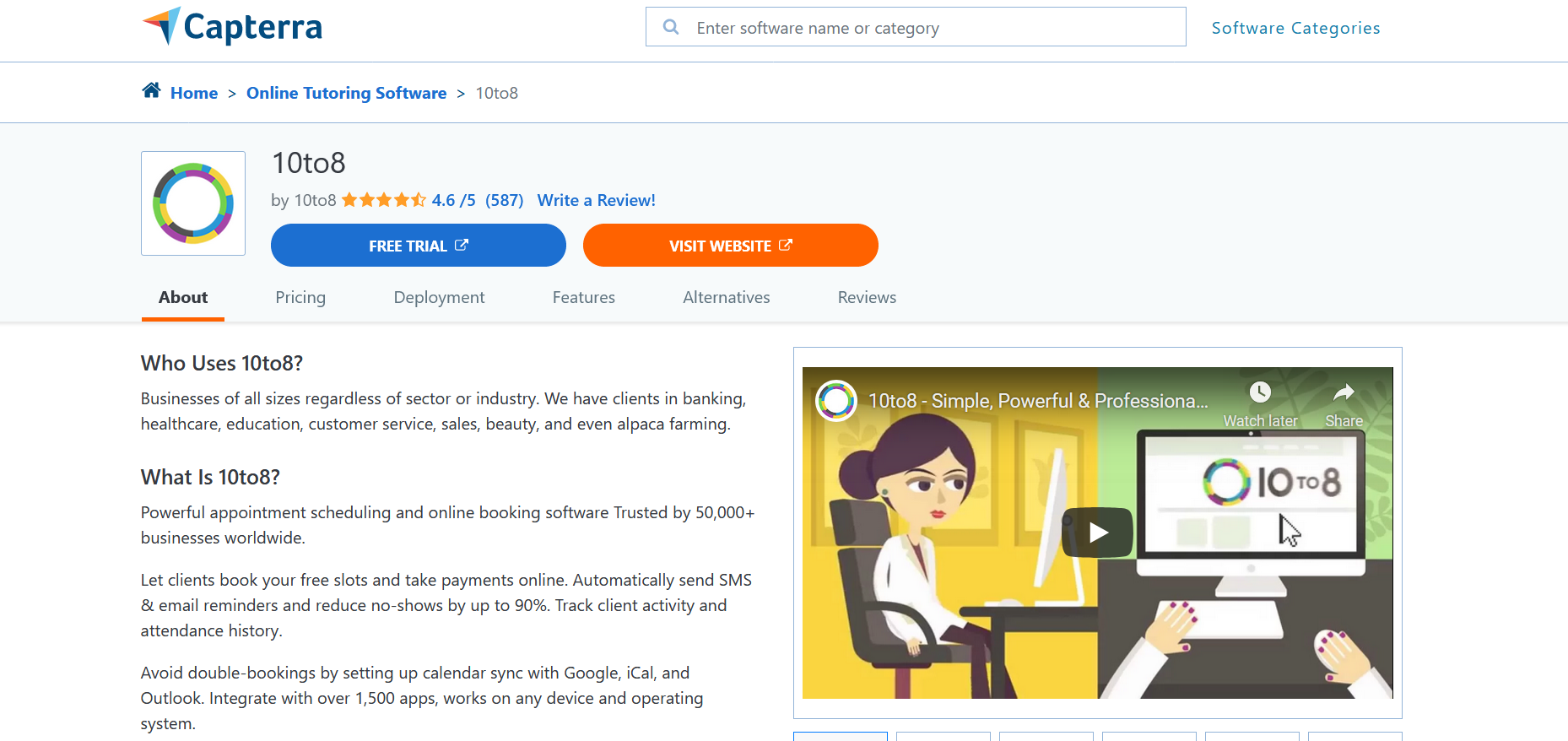 Capterra is one of the best review platforms for b2b and b2c companies