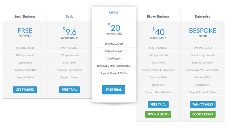 10to8 appointment scheduling software pricing
