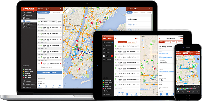 the best sales software tools Badger Maps