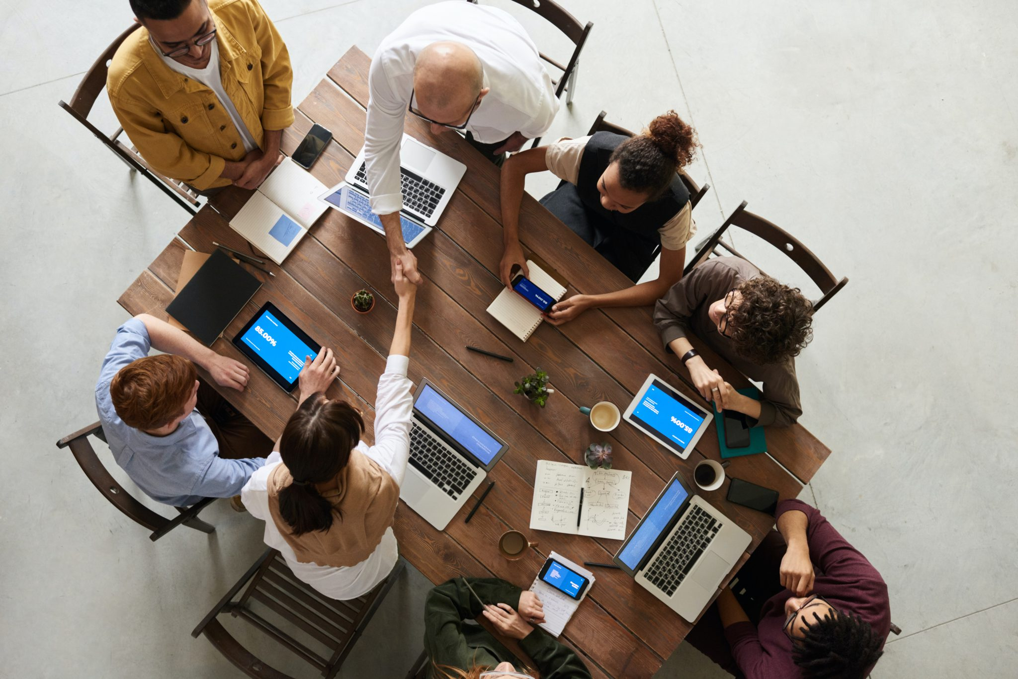 a workplace using the best client management tools