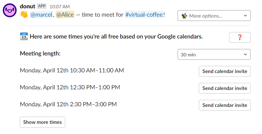 Donut is a great way to keep in touch with employees - perfect for remote onboarding