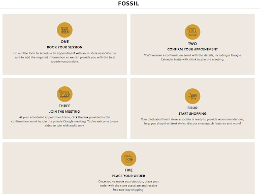fossil provides excellent customer experience