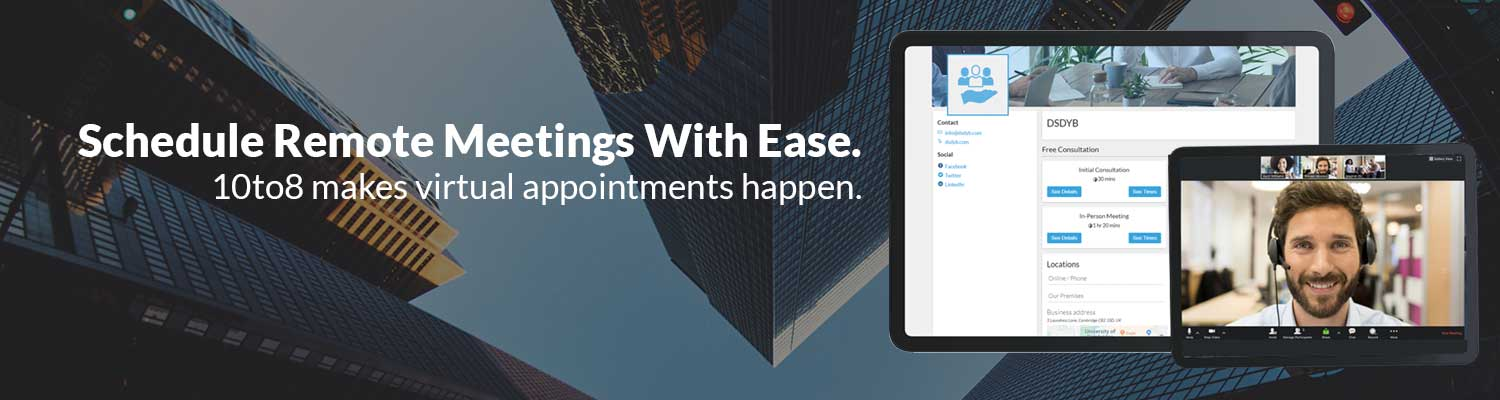 how to schedule virtual appointments with 10to8 online booking system