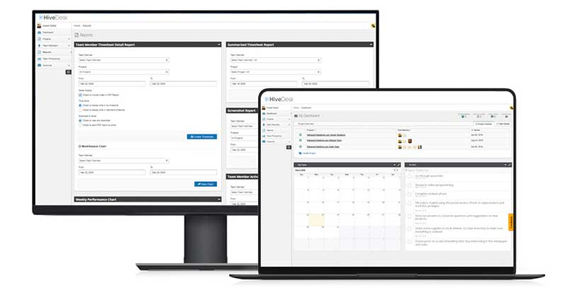 best remote team management software HiveDesk