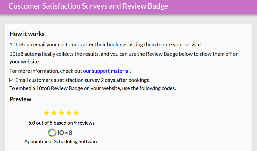 Sending a satisfaction survey is a great way to improve patient satisfaction