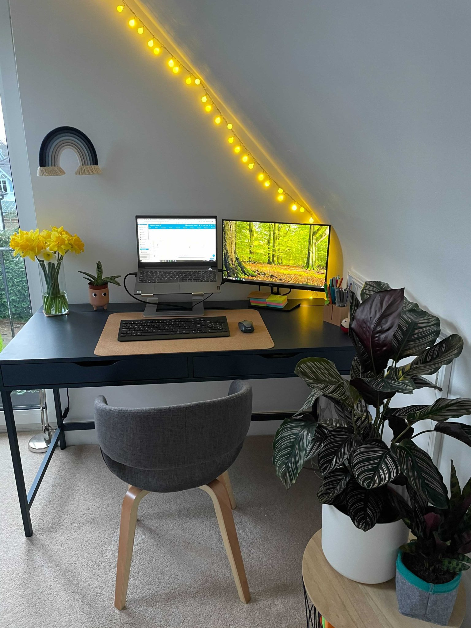 letting natural light into your home office is a great way to prevent drowsiness
