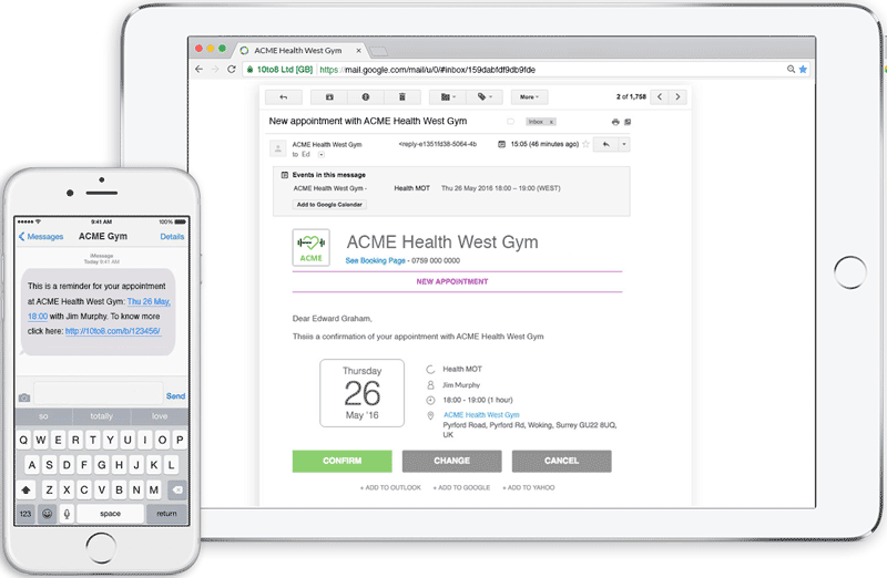 Reduce no-shows with automated sms and email reminders