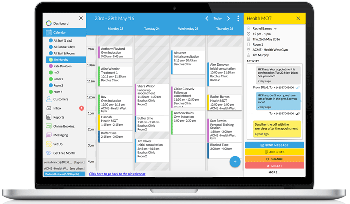 Appointment Scheduling calendar to manage your professional services business and reduce admin