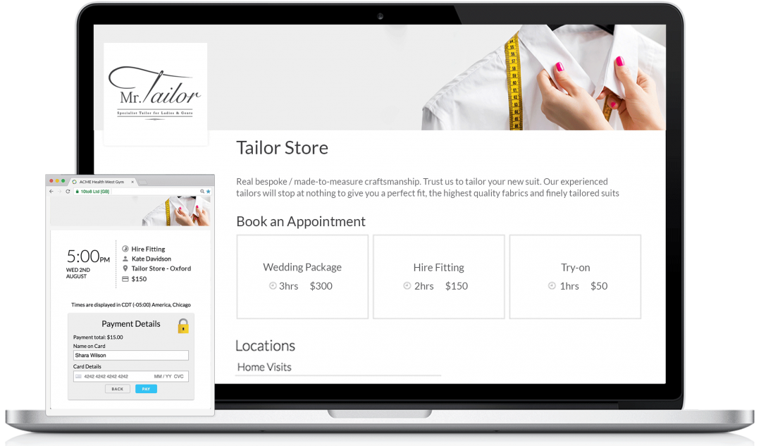 online booking system for retail