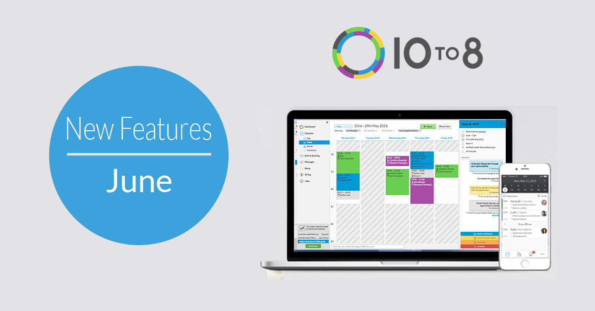 New Features in June | 10to8 Appointment Scheduling Software