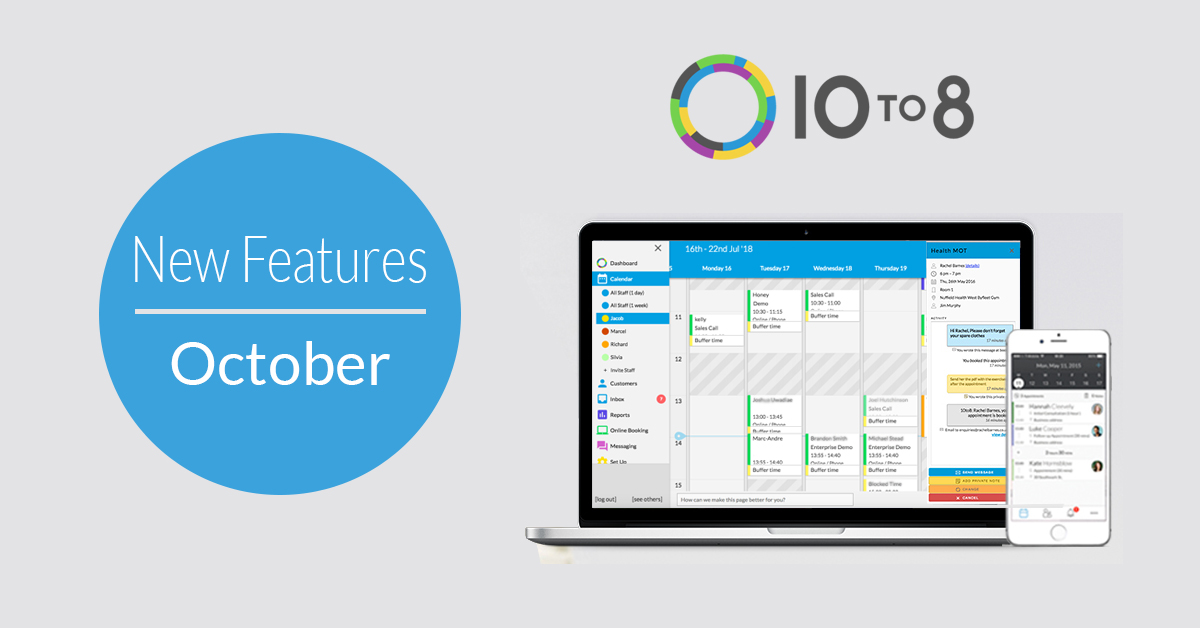 october appointment scheduling software features