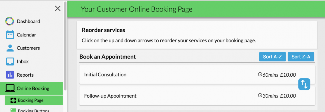 appointment scheduling software reordering services
