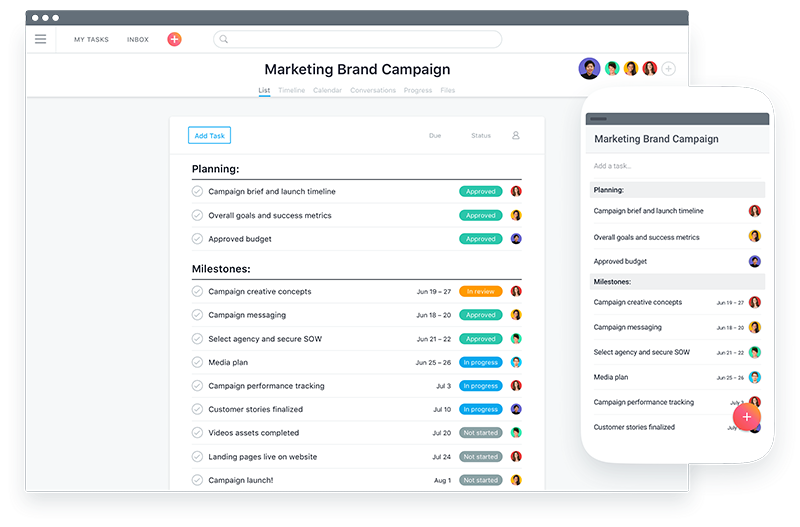 Asana for remote team managers