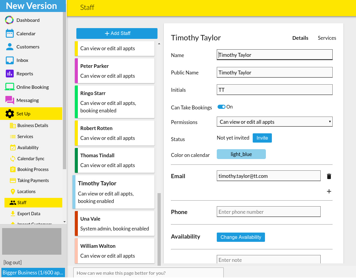 10to8 appointment scheduling software new staff page1