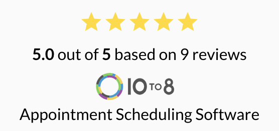 10to8 appointment scheduling software reviews badge