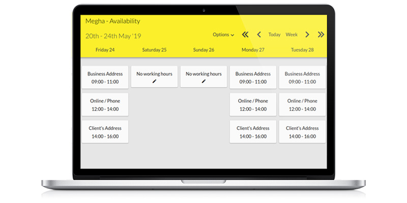 10to8 online diary system multiple location availability