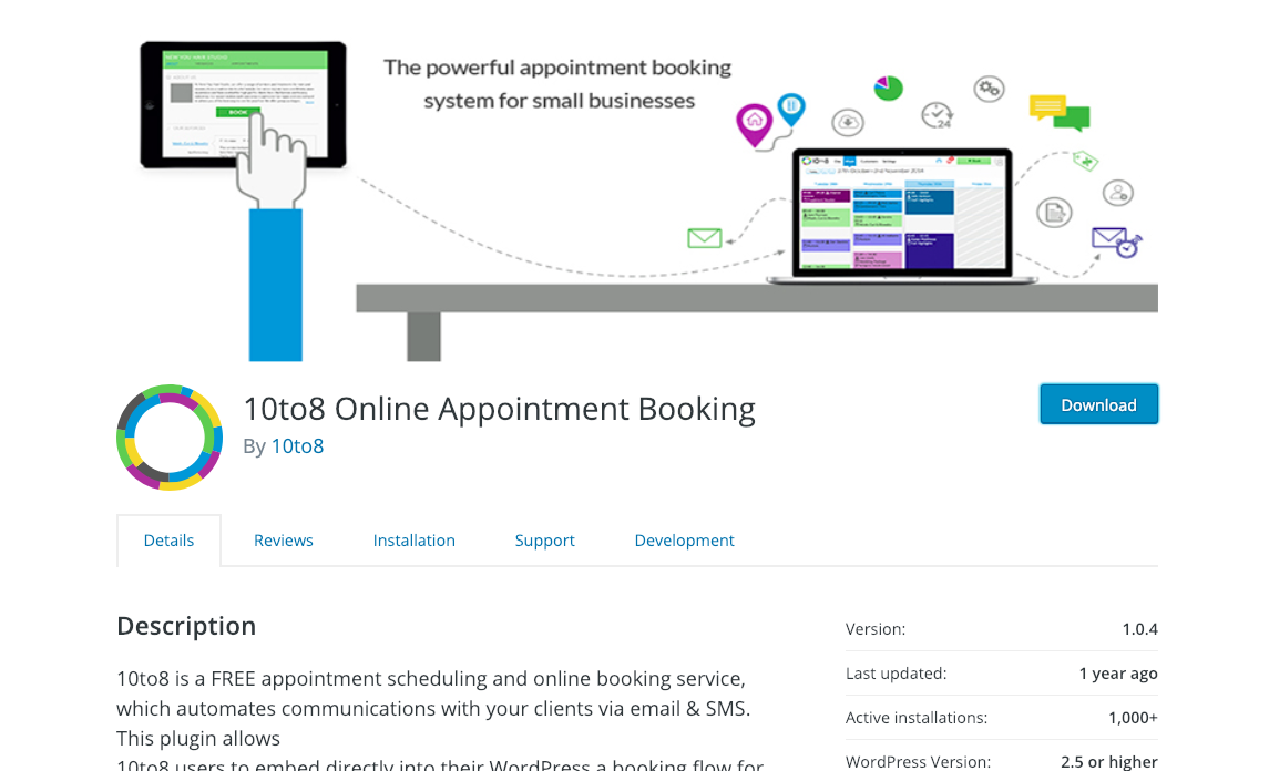 schedule appointments with wordpress