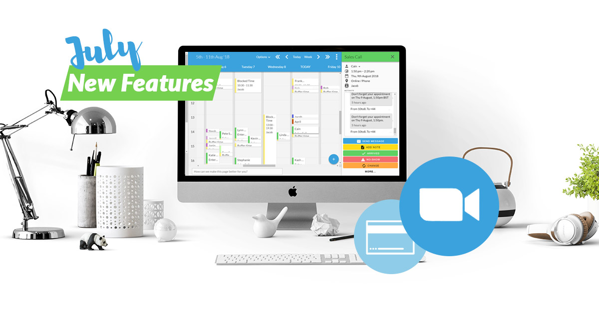 10to8 appointment scheduling software new features 2019 July