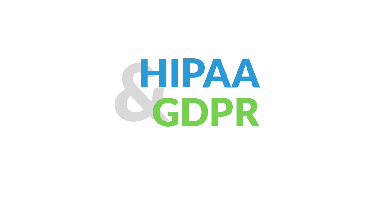 What is the difference between HIPAA and GDPR