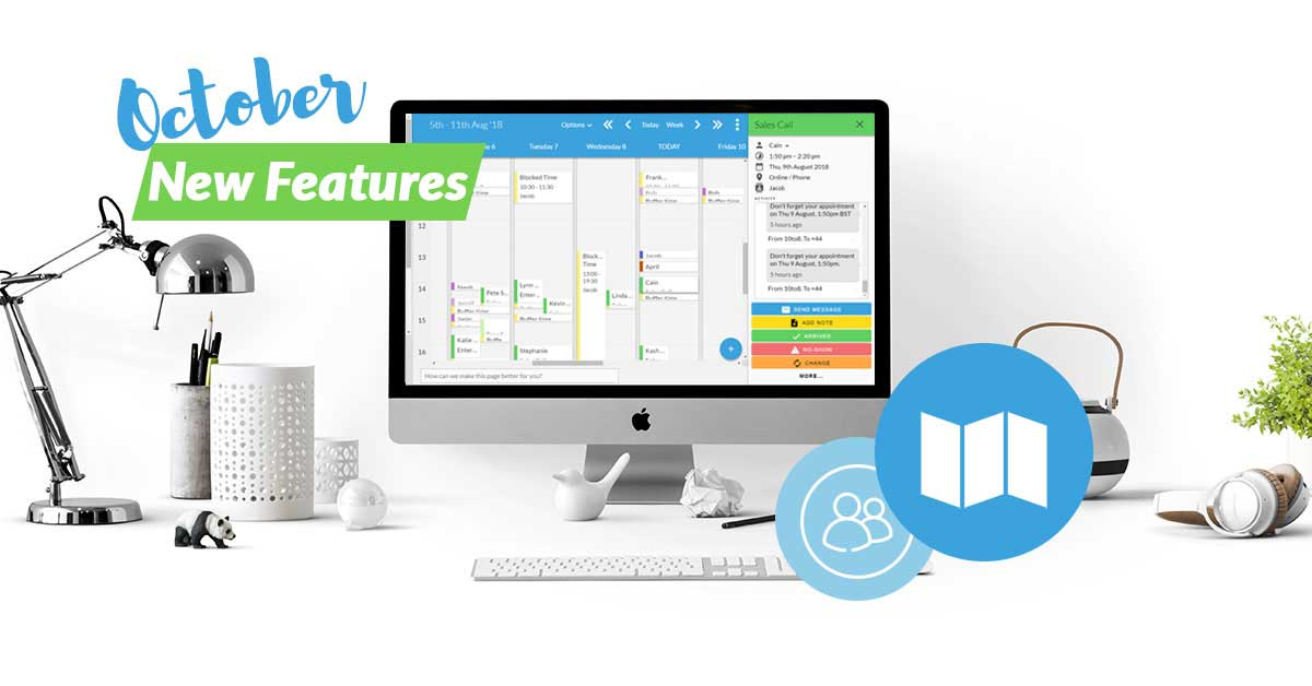 10to8 appointment scheduling software new features in October