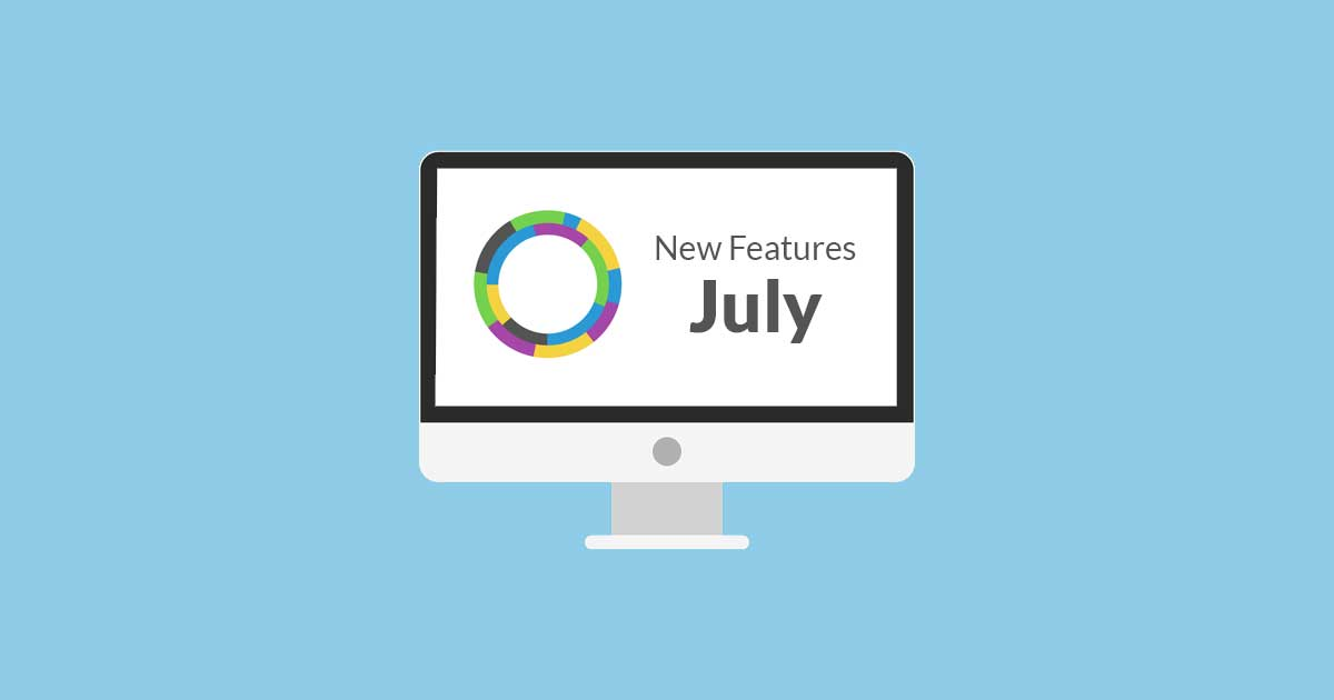 New features in July 2020
