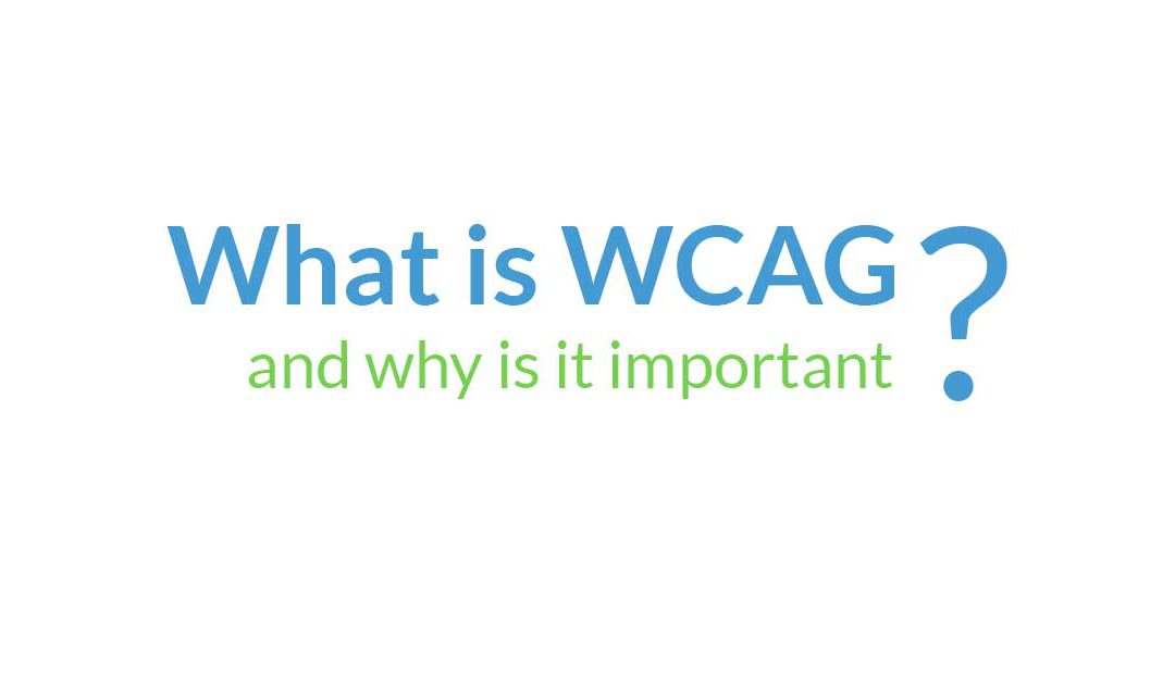 What is WCAG and why is it important?